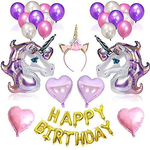 (Geburtstag Party Dekoration Girlande Einhorn Luftballon partyzubehör Kindergeburtstag Set)