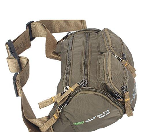 Innturt Bauchtasche, Nylon, mehrere Taschen Large-Army Green
