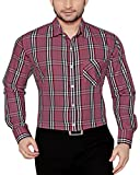 Global Rang Pink Checks Casual Shirt for Men Stylish (46)