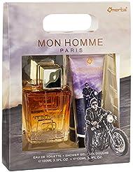 Omerta Mon Homme Eau de Toilette 100 ml/Gel Douche pour Homme