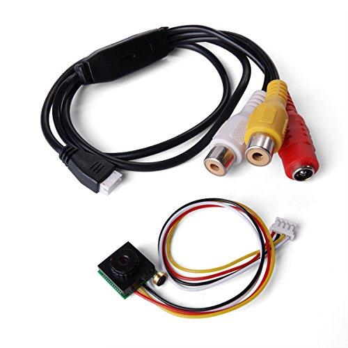 600TVL 5MP Full HD Mini Micro Telecamera Camera Cam SPIA SPY A COLORI Audio con Microfono Microphone (TV Format:NTSC) CN157