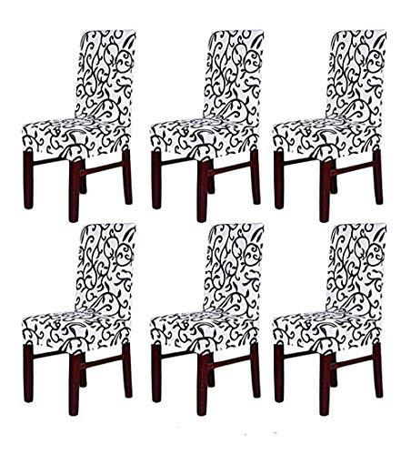 HMWish Pack de 6 Fundas sillas Comedor Elásticas
