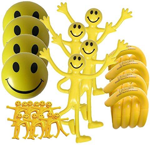 Set de 24 juguetes sensoriales amarillos StressCHECK para eliminar el...