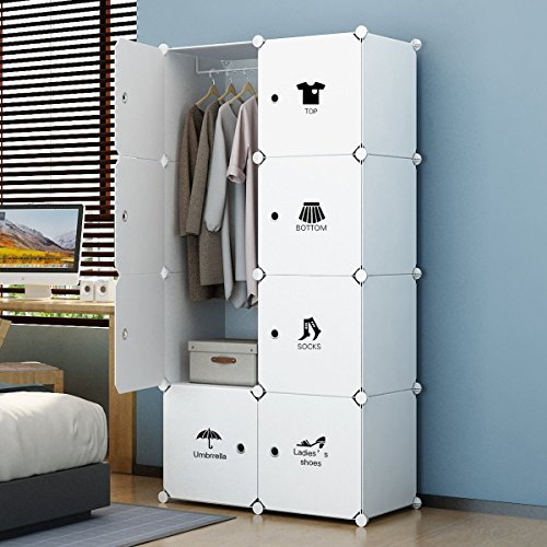 House of Quirk Plastic Portable Storage Organizer, White