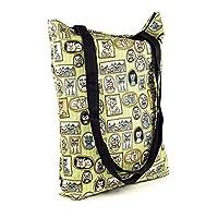 LimeWorks Shopping Bag Shoulder Bag Tote Bag - Cat Pattern Picture Frame - Lined