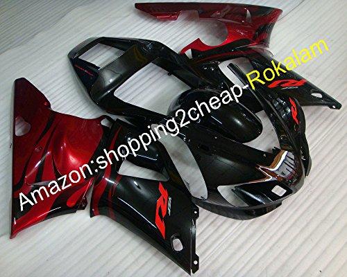 1998 1999 R1 Rouge Noir George Cowling pour Yzfr1 98 99 Yzf-r1 Yzf1000 Moto Carénage raccords (Moulage par injection)
