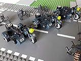 3 x WW2 Motorrad Zündapp Ks 750 mit Beiwagen, Zubehör für Minifiguren Soldaten, 300 Teile