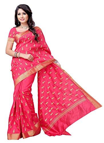 Meghdoot Strawberry Colour Raw Silk Saree