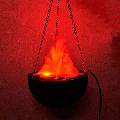 20 Cm 3D Halloween Kessel Elektronische Gefälschte Feuer Flamme Magie Hängen Flamme Lampe Party Decor Brazier Feuer Lampe Mit Stecker Eu -