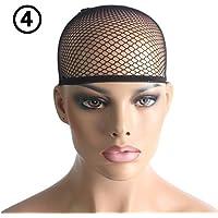 Malla unisex elástica/Medias de lujo Peluca de pelo Cap Liner Redecilla de nylon extensible
