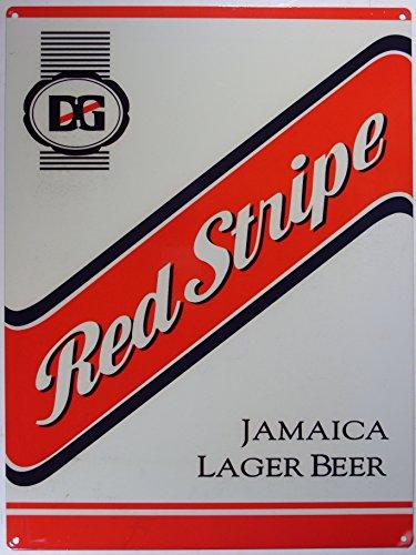 Red Stripe jamaikan beer Bier Blechschild Stabil Flach Neu 30x40cm S1386 (Stripe Red Bier)