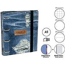 Carpeta Equipada Katacrak Jeans 119507, A-5 4 Anillas (Solo Jeans)