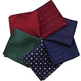 Kissing U Hombres de 6 Piezas Surtido de Bolsillo Clásico Cuadrado de 23 * 23 cm Pañuelos Pack...