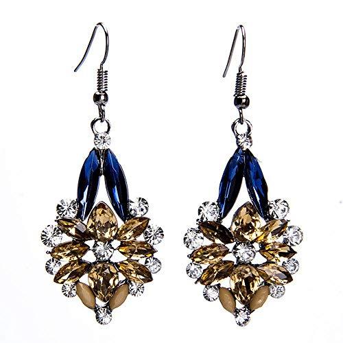 JunBo Mode übertrieben Intarsien mit Zirkon künstlichen Perlen -