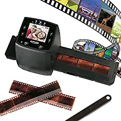 "Film & Negative Scanner Slide Viewer, 35mm 2.4"" Viewing Screen Usb Connection To Save As Digital Files - Free 2 Negative Slide Holders & Cleaning Brush By Zennox (Slide Viewer)"