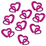 Oblique-Unique® 100 Stk Deko Doppel Herzen - Farbwahl (Pink)