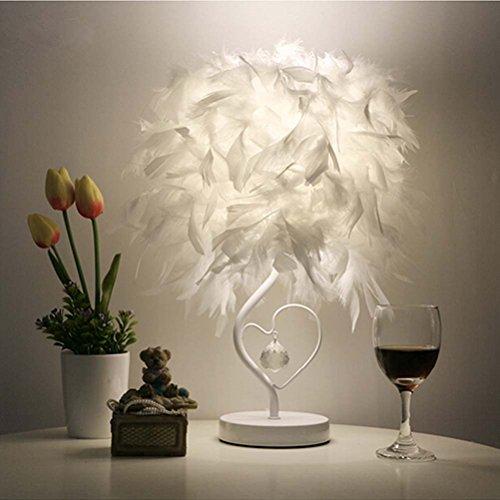 Nachttisch Design Federlampe