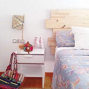 Tête de lit bois blanc vieilli 160 cm Comtesse: Amazon.fr ...