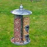 Kingfisher - Comedero de Aves 3 en 1, Un comedero para 3 tipos de alimentos, semillas, nueces y bolas de grasa