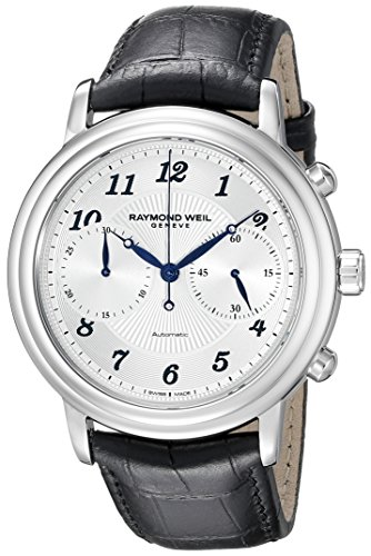 Raymond Weil Freelancer Men's 41mm Automatic Black Calfskin Watch 4830-STC-05659