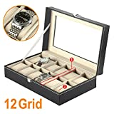 12 Watch Display Box Case Faux Leather Bild 6