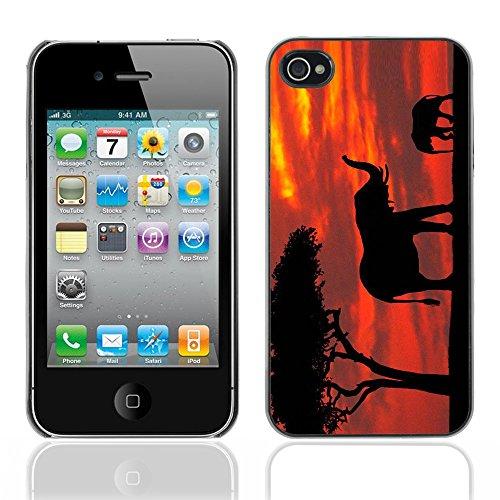 Graphic4You Elefant Tier Drawing Painting Design Harte Hülle Case Tasche Schutzhülle für Apple iPhone 4 und 4S Design #6