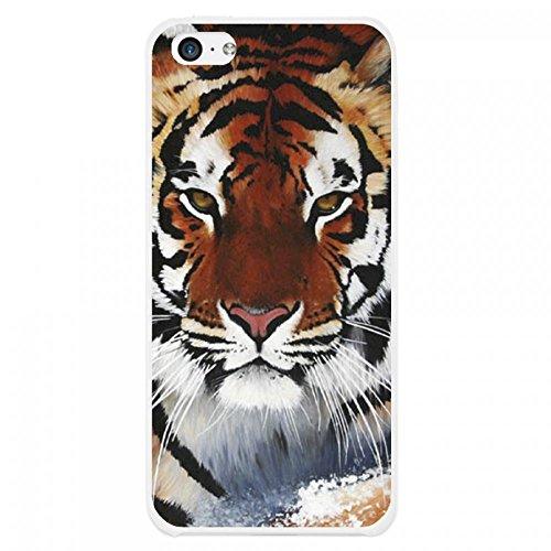 OnlineBestDigital - Animal Pattern Hardback Case / Housse pour Apple iPhone 5C - Tiger Tiger