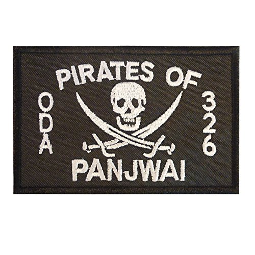 2AFTER1 US Special Forces SFG ODA 326 Pirates of PANJWAI Green Berets Morale Fastener Patch Special Forces Shoulder Tab
