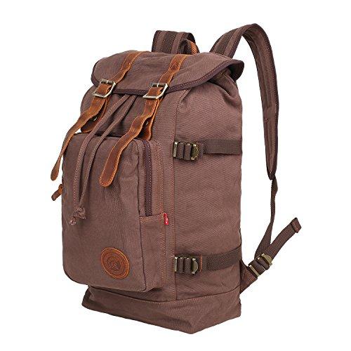 Convertible Schulter Tasche (Canvas Rucksack Wandern Tasche gohiking groß Kapazität Cabrio Casual Rucksack Daypacks Trekking Rucksäcke)