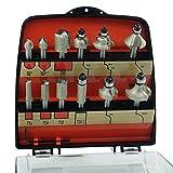 ENT 09012GB 12-tlg. DURACUT HM Fräser Set in bruchfester Kunststoffkassette - Oberfräser mit Schaft 8 mm - Nutfräser mit HW-Grundschneide zum Einbohren