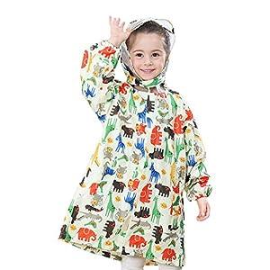 Qiao Nai Impermeable Chaqueta Impermeable para Niños Chubasquero para Niños Regalo Resistente Al Desgaste Deportes Diseño De Dinosaurio Encantador 13