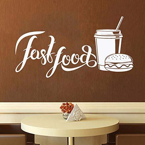 Yzybz Fast Food WallStore Logo Wand Fenster Aufkleber Bäckerei Und Backwaren Home Küche Wandtattoo Fenster Dekor