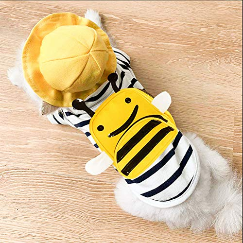 Kostüm Little Bee - ZLALF Halloween-Katzen-Hundekostüm-Haustier-Kleidung Hundet-Shirt-Welpen-Kleidung-Hunderock-Kleid-Katzen-Kleidung Für Kleine Hundekatzen-Welpen,Little Bee-XL