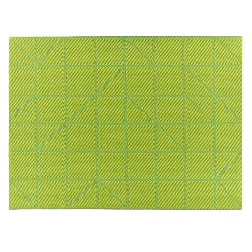 (Designer Tischset LINES Platzset Platzmatte Tischmatte (lime grün))