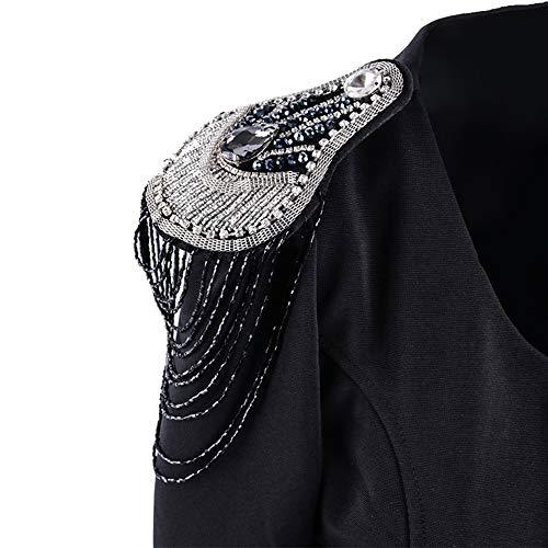 Liuxiaomiao Epaulette 1 Paar Vintage Metall Quaste Epaulette Schulter Bord Mark Kostüm Brosche Abzeichen Handgemachte Epaulette Quaste Zubehör