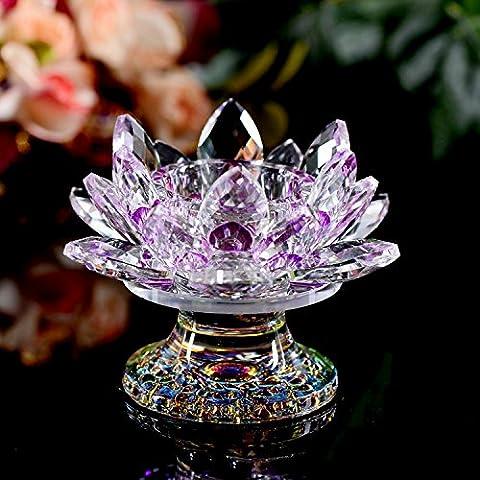 Upper-Crystal candlestick,Violet