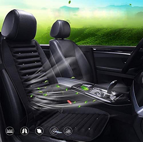 R&p raffreddamento coprisedili cuscino estivo comfort/antisudore aria condizionata raffreddamento rapido temperatura regolabile 12v / 24v / 220v adatto per auto/casa per auto/casa,black