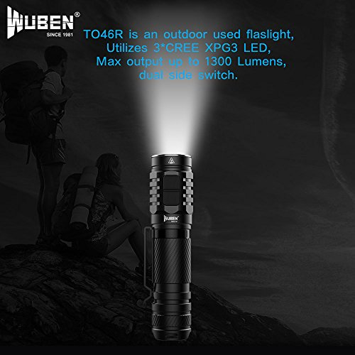 Wuben to46r XP de G3 LED Linterna