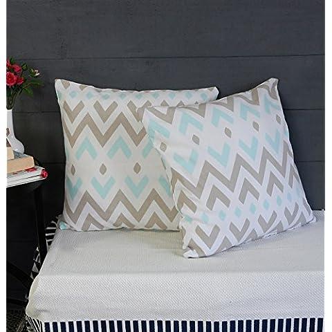 Cojines decorativos de cojin de almohadilla de lanzamiento para sofa Juego de 2 fundas 100% algodon Diseno basico Accesorios de ropa de cama