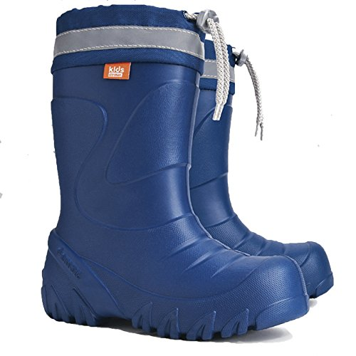 Demar Kids Boys Girls Wellington Boots Rainy Snow Wellies Ultra Light EVA Warm Liners