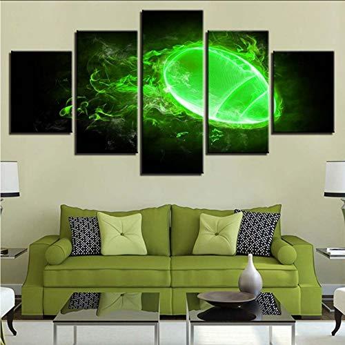 Wuwenw Leinwand Malerei Hd Drucke Home Bedside Hintergrund Dekor 5 Stücke Wandkunst Soul Technologie Modular Game Bilder Kunstwerk Poster, 16X24 / 32/40 Zoll, Ohne Rahmen