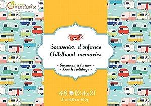 Avenue Mandarine-cc034C-Bloque de Recuerdos de Infancia de 48Hojas-Tema de Vacaciones en el mar