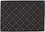 Broadway Fußmatte Türmatte Karo Anthrazit/Braun Fb.66, Größe:50x70 cm