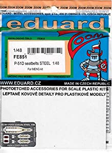 Eduard Accessories fe851 30502000 P-51D Seat V6D310Z Steel For Meng