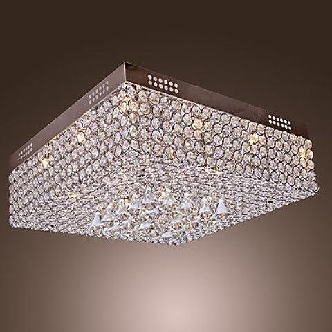 BKLaterne Soffitto di cristallo di luce in rilievo con 45 LED colorati e 12 Basi G4