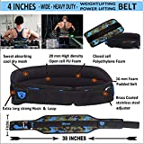 Xtrim Dura Belt -Men Gym Fitness Weight Lifting Belt Foam Padded Contoured Weightlifting Belt with Moisture Wicking Lining and Steel Roller Adjuster- Wide 4 INCHES Width