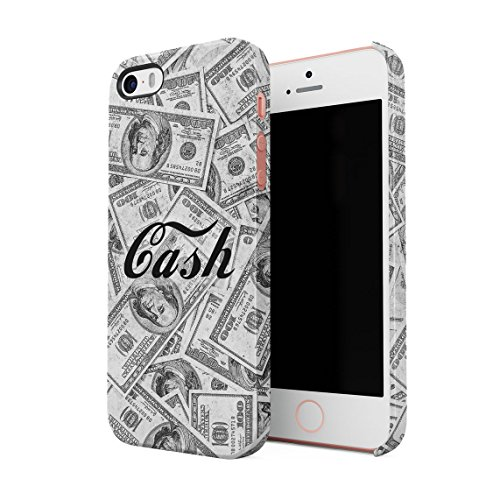 Cash Hundred Dollar Bills Rich High Life Boss Franklins Benjis Dünne Rückschale aus Hartplastik für iPhone 5 & iPhone 5s & iPhone SE Handy Hülle Schutzhülle Slim Fit Case Cover (5-dollar-safes)