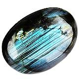 Giugno & Ann Natural Palm Stones, Cristallo guarigione Gemstone Terapia Senza Pietre per Meditazione Chakra bilanciamento Collection Labradorite