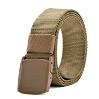 Nylon Canvas Breathable Military Tactical Men Waist Belt With Plastic 130cm
