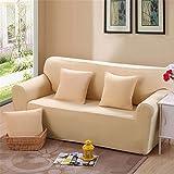 - Sofabezug für elastisch für Dekoration Haus und Wohnzimmer in Farbe Pure Schutzhülle Schutz der Möbel für 3Sitzer, beige, 3-Sitzer